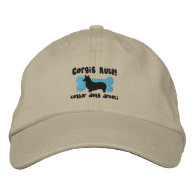 Corgis Rule Embroidered Hat