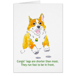 Corgis Run Fast Card