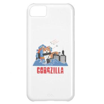 Corgzilla Cute Corgi Dog City and Pet Lover Design Case For iPhone 5C
