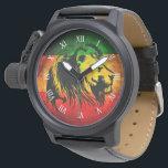 "cori rasta reggae graffiti flag lion wrist watch<br><div class=""desc"">cori rasta reggae graffiti flag lion</div>"