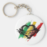 Cori Reith Rasta reggae one love Basic Round Button Keychain