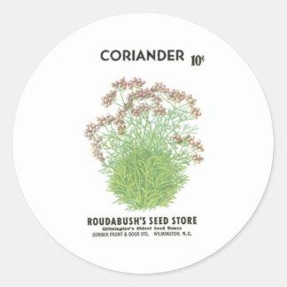 Coriander Roudabush s Seed Store Stickers