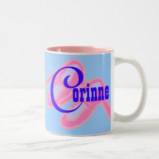 Corinne personalizó la taza conocida