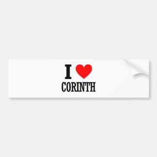 Corinth, Alabama City Design Bumper Sticker