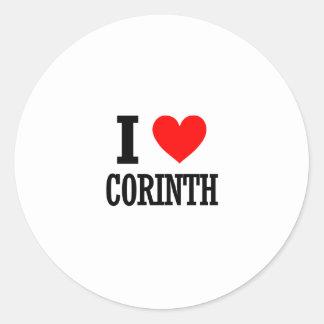 Corinth, Alabama City Design Classic Round Sticker