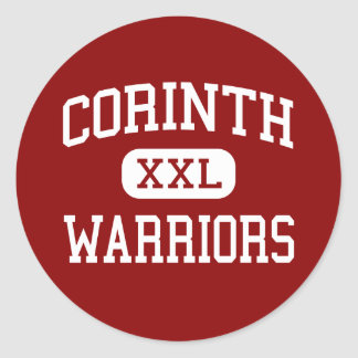 Corinth - Warriors - Junior - Corinth Mississippi Classic Round Sticker