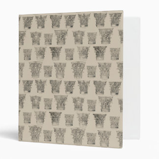 Corinthian and Composite Capitals 3 Ring Binder