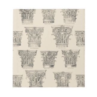 Corinthian and Composite Capitals Notepad