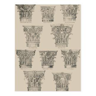 Corinthian and Composite Capitals Postcard
