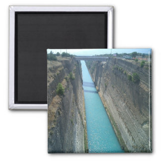 Corinthian Canal 2 Inch Square Magnet