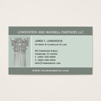 Corinthian Column Attorney Business Card