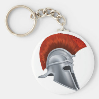 Corinthian helmet basic round button keychain