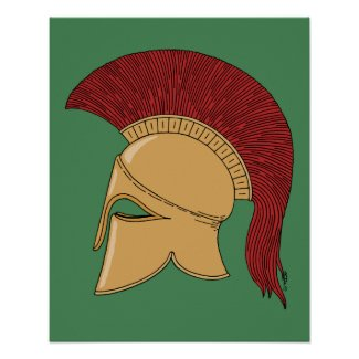 Corinthian Helmet Poster