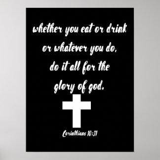 Corinthians 10:31 poster