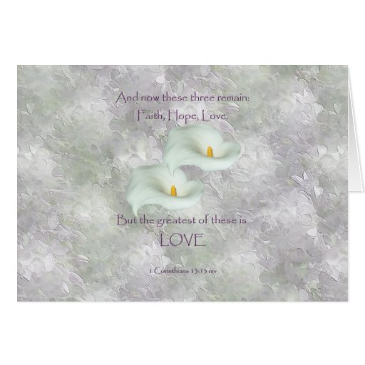 Corinthians 13:13 Faith Hope Love Greeting Cards