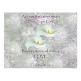 Corinthians 13:13 Faith Hope Love Postcard