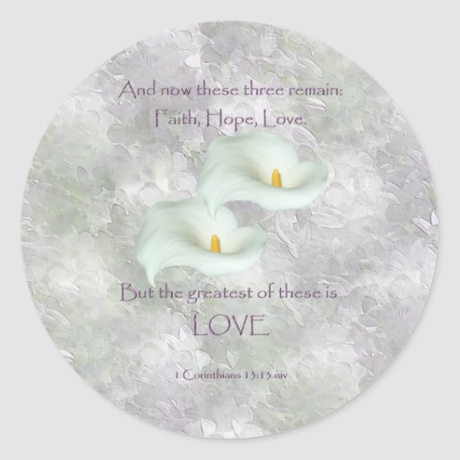 Corinthians 13:13 Faith Hope Love Sticker