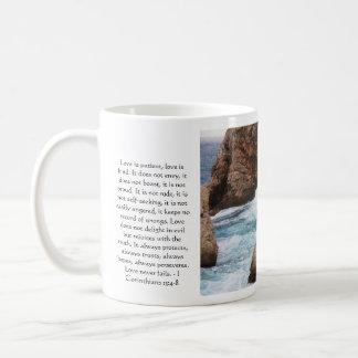 Corinthians 13:4-8 BIBLE VERSE ABOUT LOVE Classic White Coffee Mug