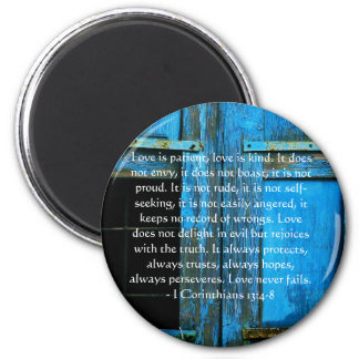 Corinthians 13:4-8 BIBLE VERSE ABOUT LOVE Magnet