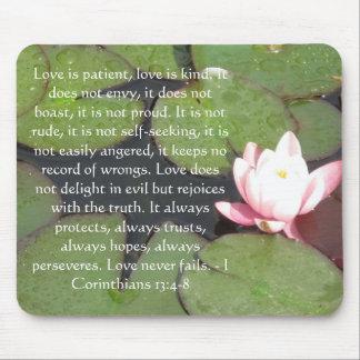 Corinthians 13:4-8 BIBLE VERSE ABOUT LOVE Mouse Pad