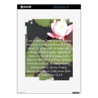 Corinthians 13:4-8 BIBLE VERSE ABOUT LOVE Skins For iPad 2