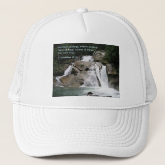 Corinthians 13:7-8  Waterfall Trucker Hat