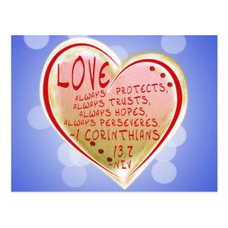 Corinthians 13 del AMOR 1: FE DE 7 NIV ESPERANZADA Postales