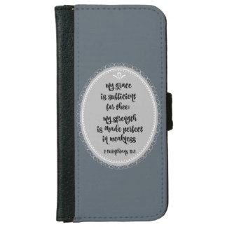 Corinthians Bible Verse Grace iPhone 6/6s Wallet Case