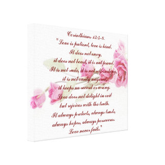 Corinthians Bible Verse Wrapped Canvas Stretched Canvas Print