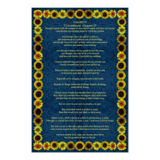 Corinthians I-12 in a Sunflower Frame Poster