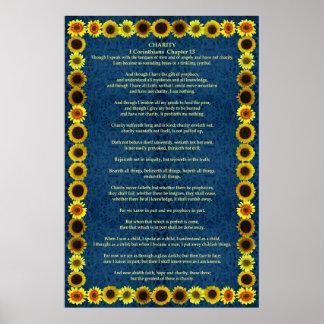 Corinthians I-12 in a Sunflower Frame Print
