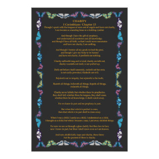 Corinthians I-13 in a Butterfly Frame Print