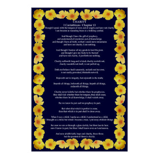 Corinthians I-13 in a Golden Poppy Frame Print
