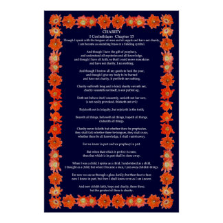 Corinthians I-13 in a Hedgehog Cactus Frame Posters