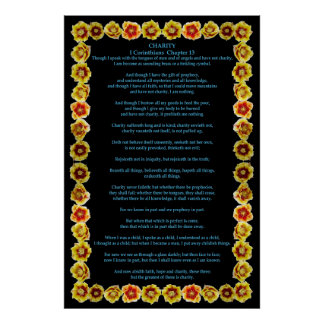 Corinthians I-13 in a Prickly Pear Cactus Frame Posters