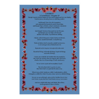 Corinthians I-13 in a Tree Bell Frame Poster