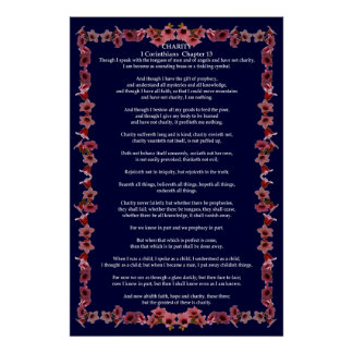 Corinthians I-13 in a Tree Bell Frame Print