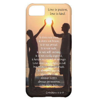 Corinthians, Love is Patient, (hands holding sun) Case For iPhone 5C