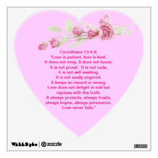 Corinthians Quote Rose Wall Decal