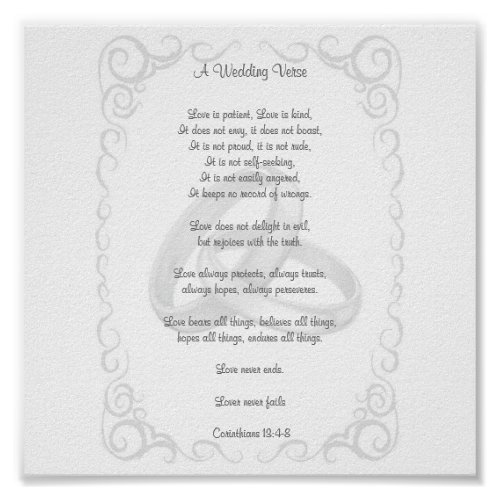 Corinthians Wedding Verse print