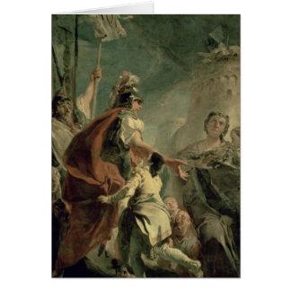 Coriolanus en las proximidades de Roma c 1725 Felicitacion