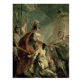 Coriolanus en las proximidades de Roma c 1725 Tarjeta Postal