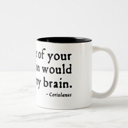 Coriolanus Insult (16thC version) Two-Tone Coffee Mug