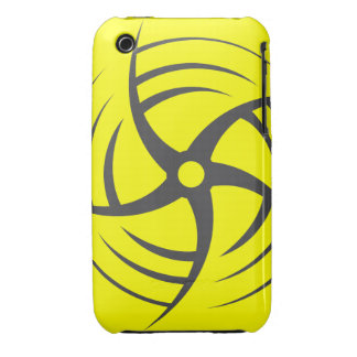 Coriolis Effect Swirly Throwing Star iPhone 3 Case-Mate Case