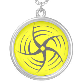 Coriolis Effect Swirly Throwing Star necklace