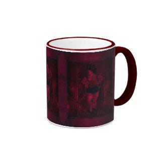 Corista del terciopelo de la felpa taza a dos colores