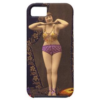 Corista del vintage de la diversión en púrpura y iPhone 5 Case-Mate protector