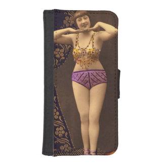 Corista del vintage de la diversión en púrpura y cartera para teléfono