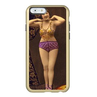 Corista del vintage de la diversión en púrpura y funda para iPhone 6 plus incipio feather shine
