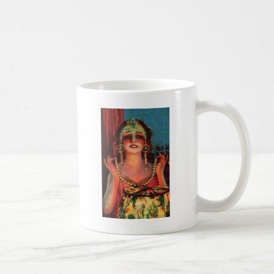 Corista fabuloso de la era de la aleta de los años taza de café